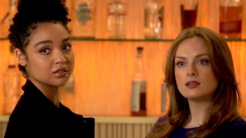 Kat and Eva look annoyed in The Bold Type