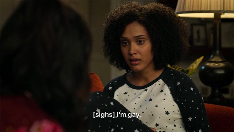 "Fabiola sighs and says ""I'm gay."""