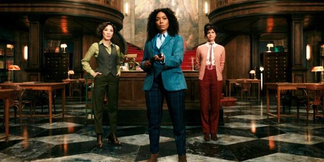 Angela Bassett, Michelle Yeoh and Carla Gugino in Gunpowder Milkshake.