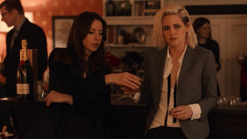 Kristen Stewart and Aubrey Plaza share a whisky