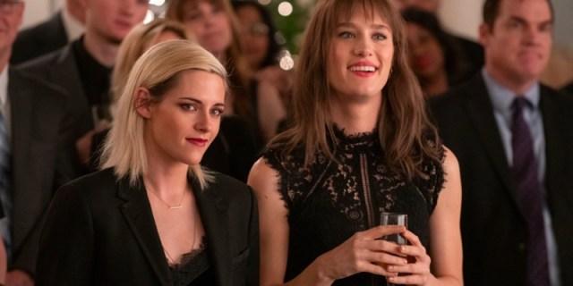Kristen Stewart and Mackenzie Davis in Happiest Season.