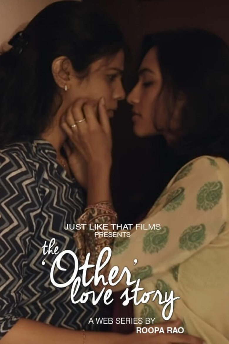 "Poster from the movie ""The Other Love Story"" that shows two girls in a near embrace. One has her hand, on the others cheek with her eyes closed."