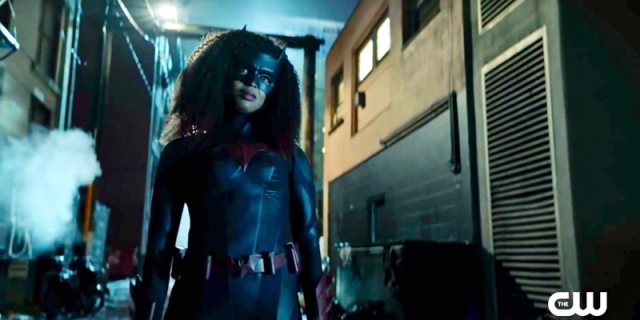 javicia Leslie stars as the new Batwoman in a Season Two trailer drop that has her kicking some criminal ass in a dark alley with her afro swinging with some major power in the wind (she's wearing the bat suit, of course!).