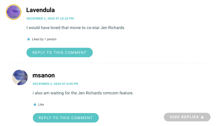 I would have loved that movie to co-star Jen Richards