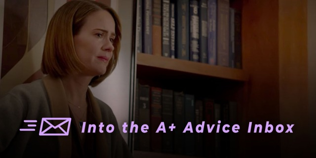 Sarah Paulson in American Horror Story looks concerned, maybe even deeply worried