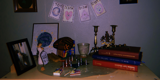 A collection of celebration objects on a table