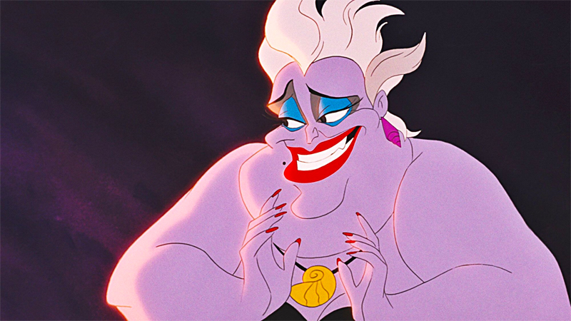 Ursula is delighted with herself for being the #1 bisexual Disney character.