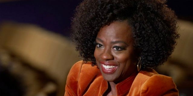 Viola Davis smiles during a recent interview on 60 Minutes to promote Ma Rainey's Black Bottom.