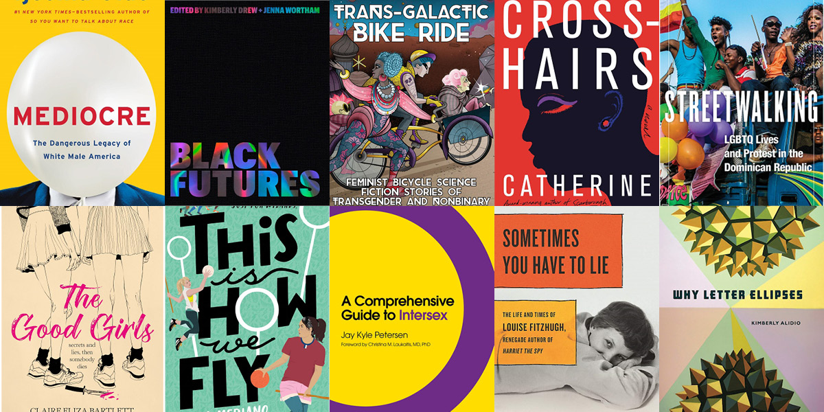 Collage of a variety of books coming out in December