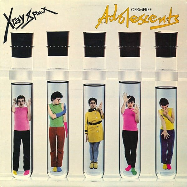 """the cover art of X-Ray Spex' """"Germ Free Adolescents"""" album"""