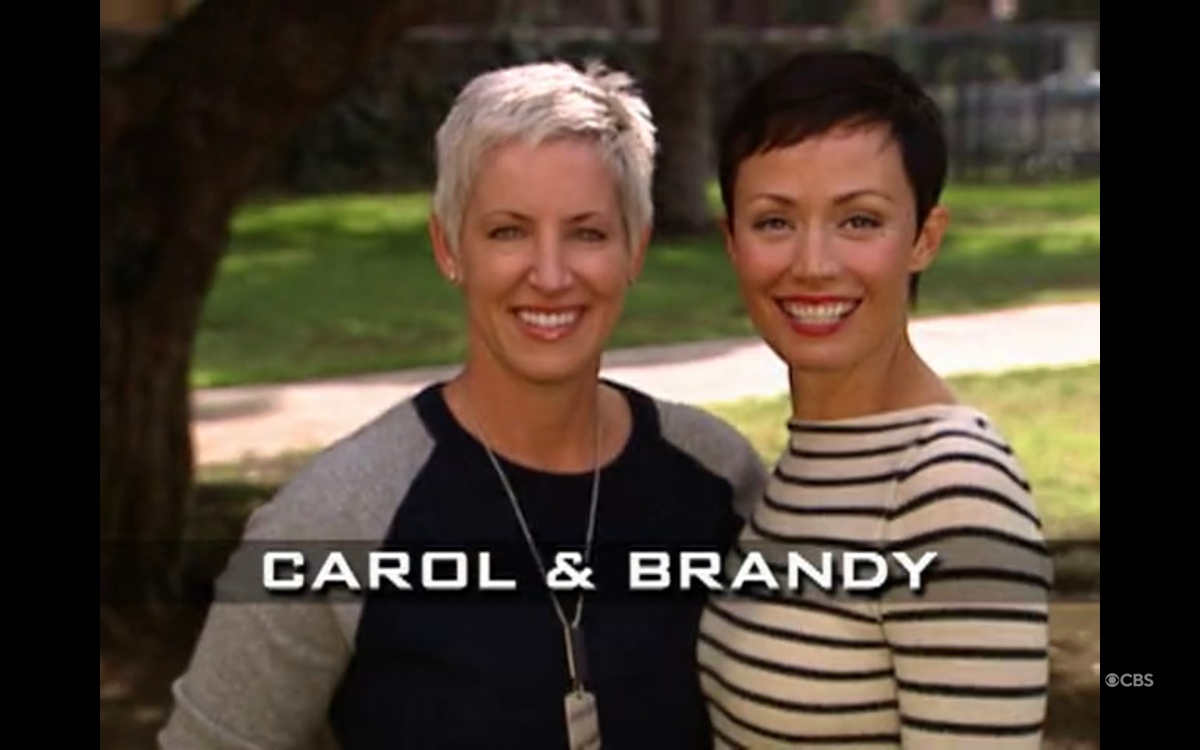Carol and Brandy in the opening credits of the amazing race