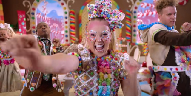 "jojo siwa in her music video for ""it's christmas now"""