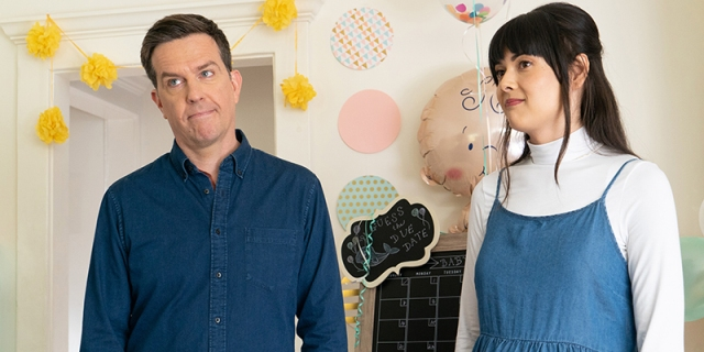 Together Together review: Patti Harrison and Ed Helms in a nursery
