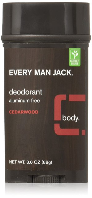 "A brown and red deodorant stick reads, ""Ever Man Jack: Cedarwood"""