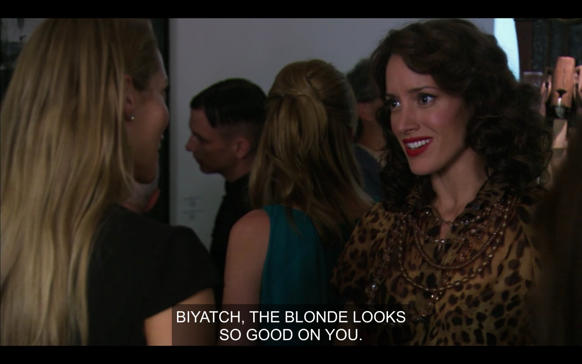 """Bette complements Kelly by saying """"Biyatch, the blonde looks so good on you"""""""