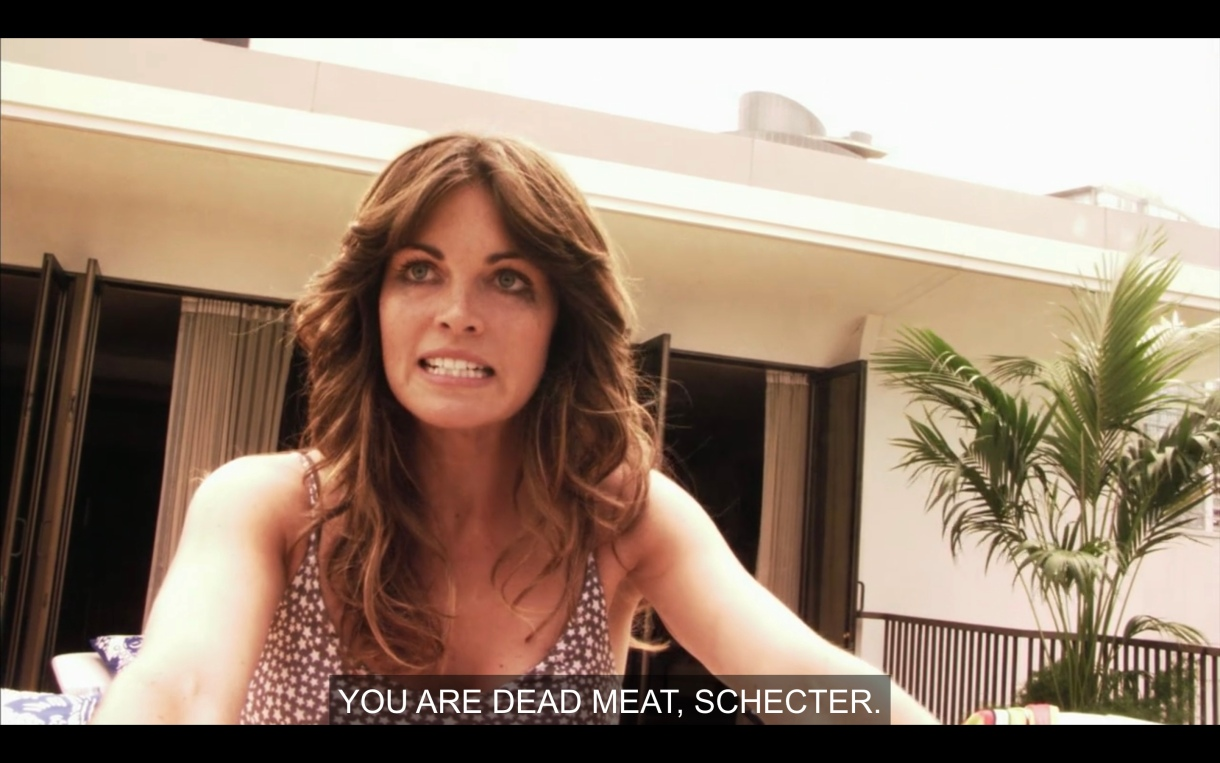 Nikki at her beach house saying Jenny is dead meat