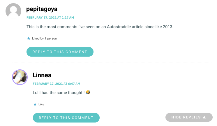 This is the most comments I've seen on an Autostraddle article since like 2013.
