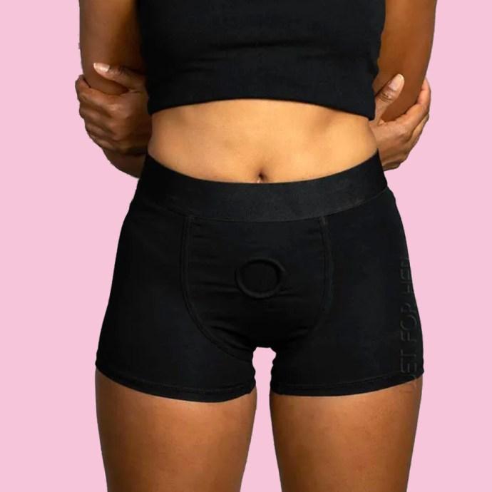 Black Boxer Brief Harness