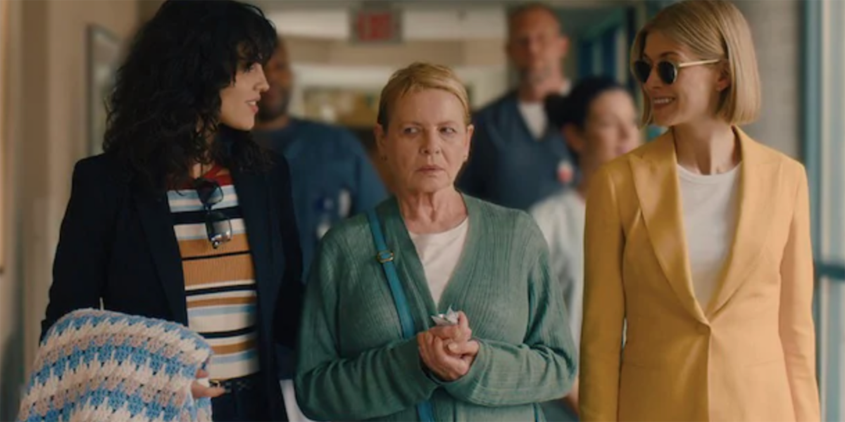 Rosamund Pike, Eiza González, and Dianne West in I Care a Lot.