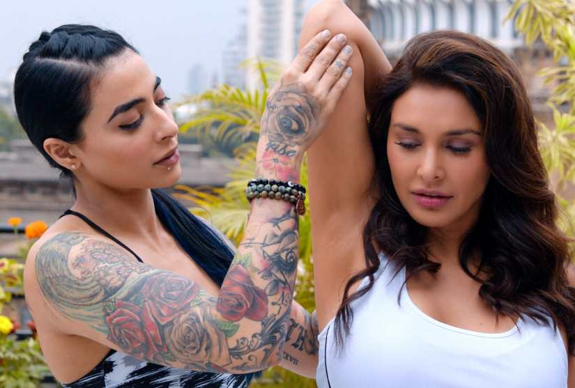 """Lisa Ray and another actress in """"Four More Shots Please!"""""""