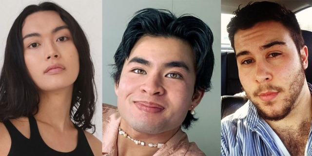 From left, Xoai Pham, a Vietnamese trans woman, Chella Man, a Chinese-Jewish trans man, and Tony Zosherafatain, a Greek-Iranian trans man.