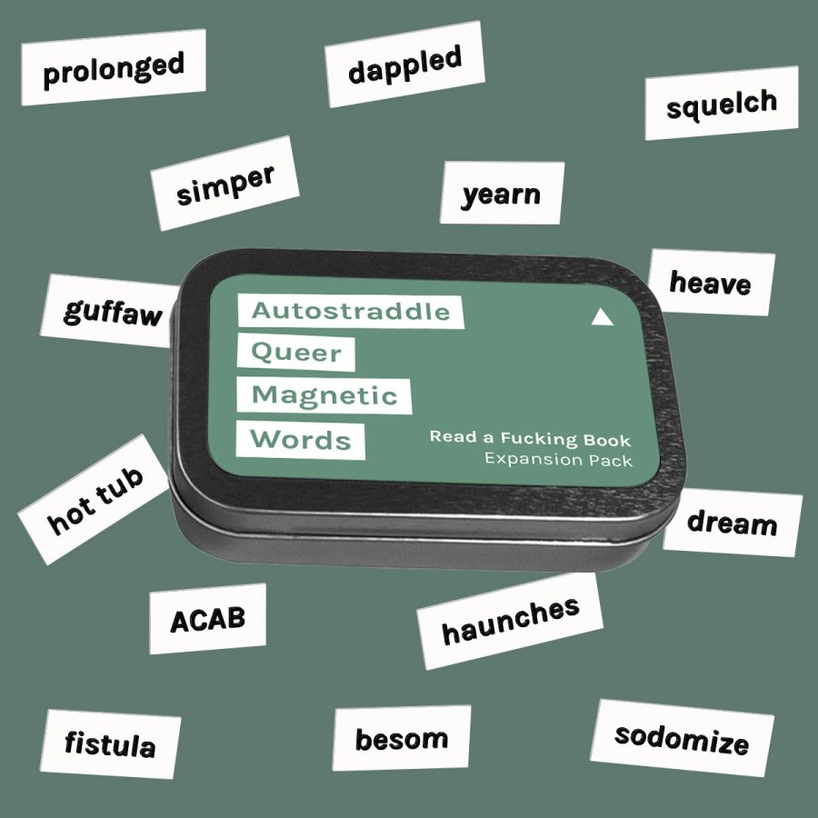 Autostraddle Queer Magnetic Words Expansion Pack: Read a Fucking Book