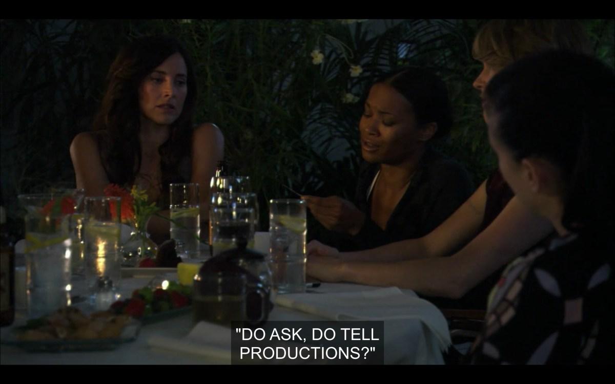 Helena and Tasha at dinner at The Planet