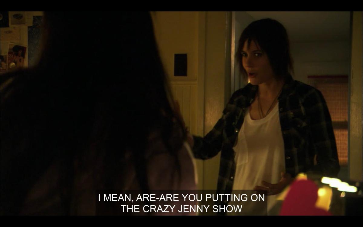 Shane is confused in her room that Jenny has turned into her office