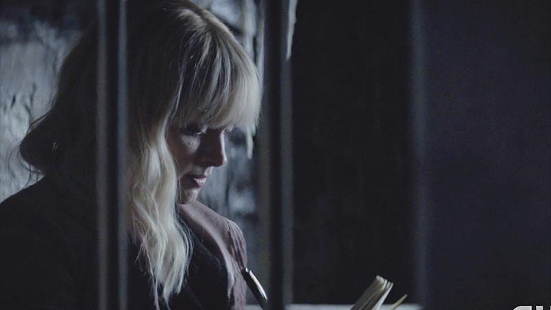 Alice writing