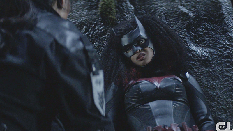 Batwoman looking up