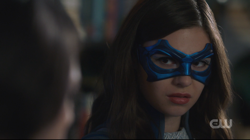 Nia looks serious in her Dreamer mask but she's so cute it's hard to handle.