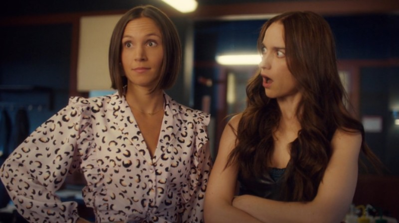 Waverly and Wynonna look shocked at what Waverly just said.