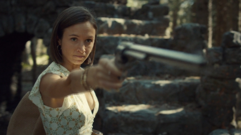 Waverly holds Peacemaker up confidently and yet adorably.