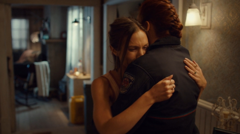 Waverly cries as Nicole holds her tight