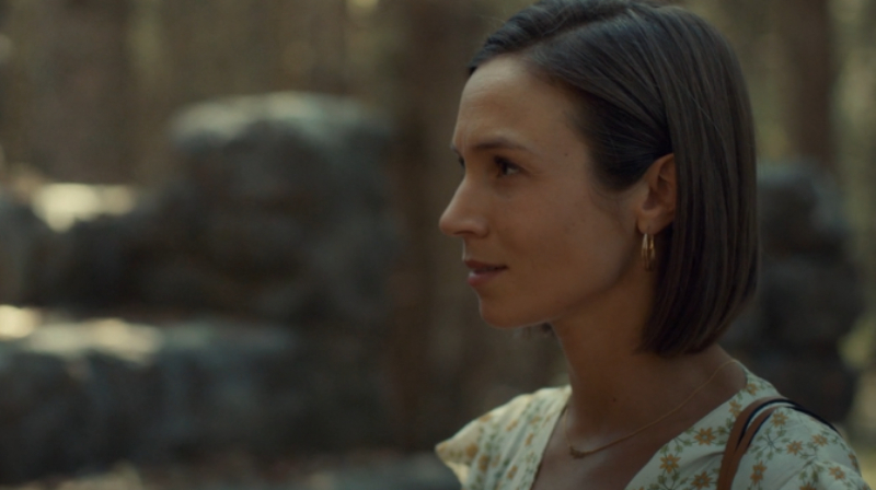 Waverly looks upset her book is blank.
