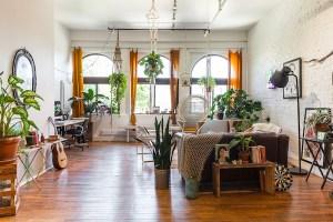 plant-filled bohemian apartment
