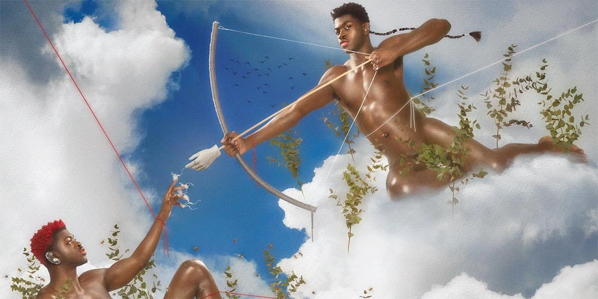 Lil Nas X queer musique vidéo promo L'image montre deux lil nas X dans une réimagerie de la