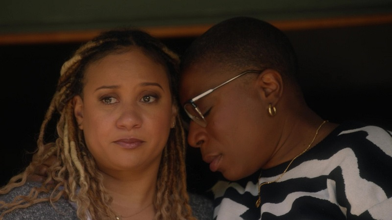 Hen and Karen watch tearfully as their foster daughter takes another step in the reunification process with her mother, this week on 9-1-1.