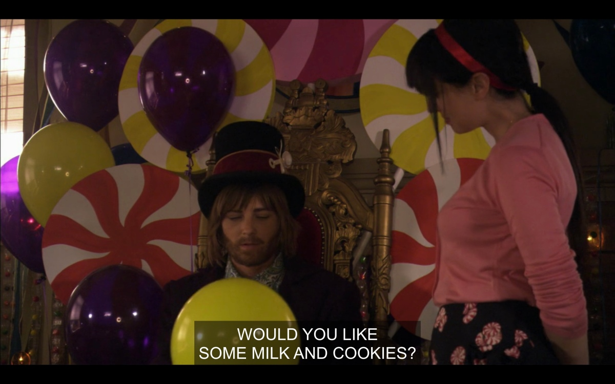 Jenny and Max at the Willy Wonka themed baby shower