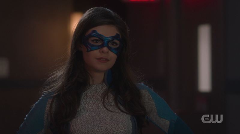 Supergirl Recap 602: Nia gives the baddie a saucy look.