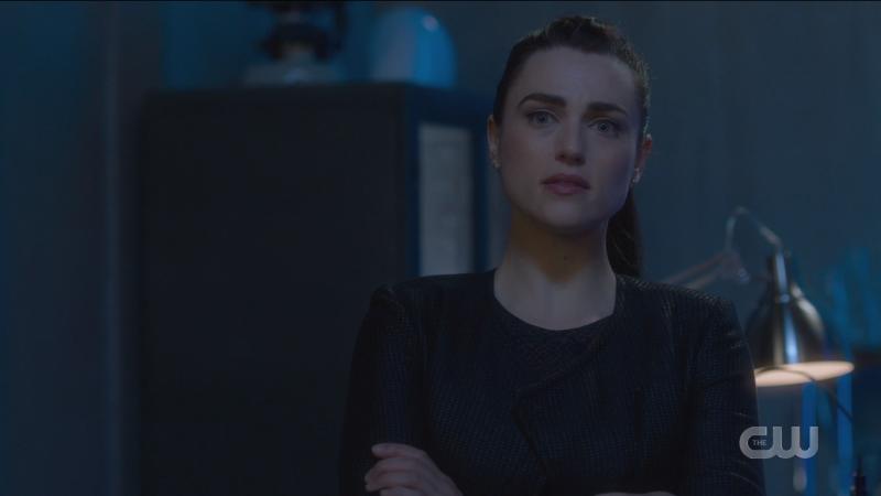 Lena looks wistfully at the hologram of Kara.
