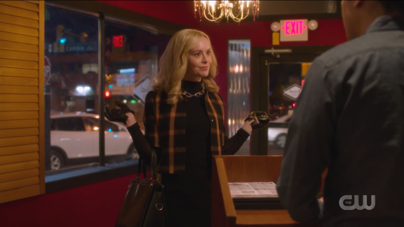 Young Cat Grant sasses her way around the diner.