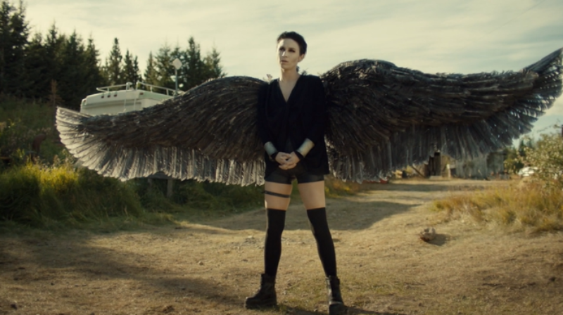 Dark Angel Waverly stands tall and foreboding.