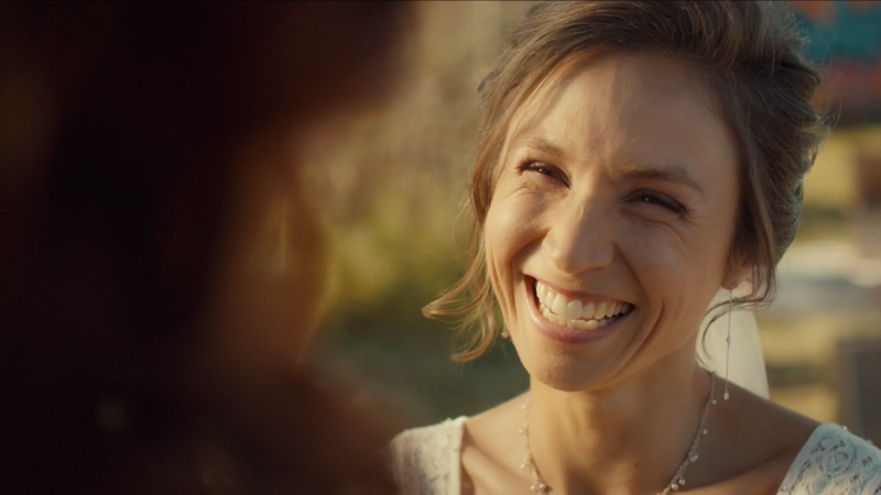 Waverly also smiles and cries through her vows.