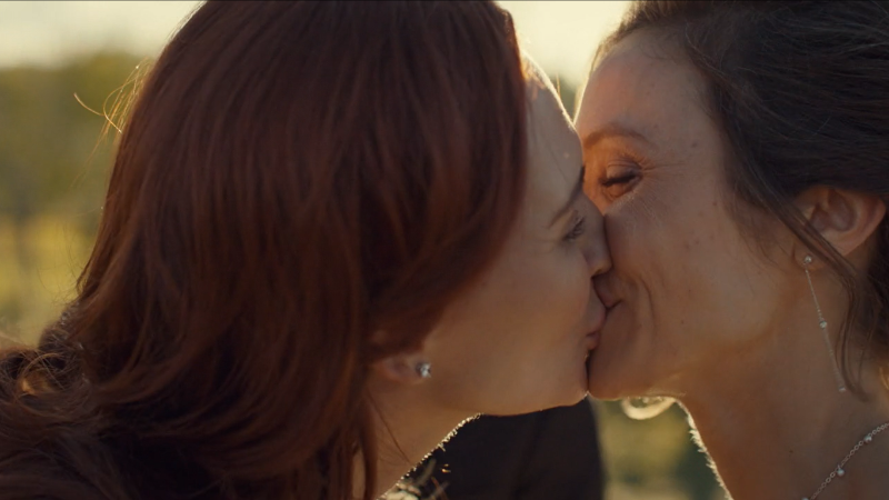 Waverly and Nicole kiss, married.