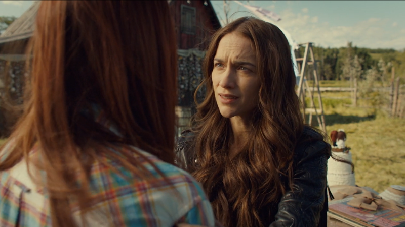 Wynonna Earp series finale recap: Wynonna looks inquisitively at Nicole.