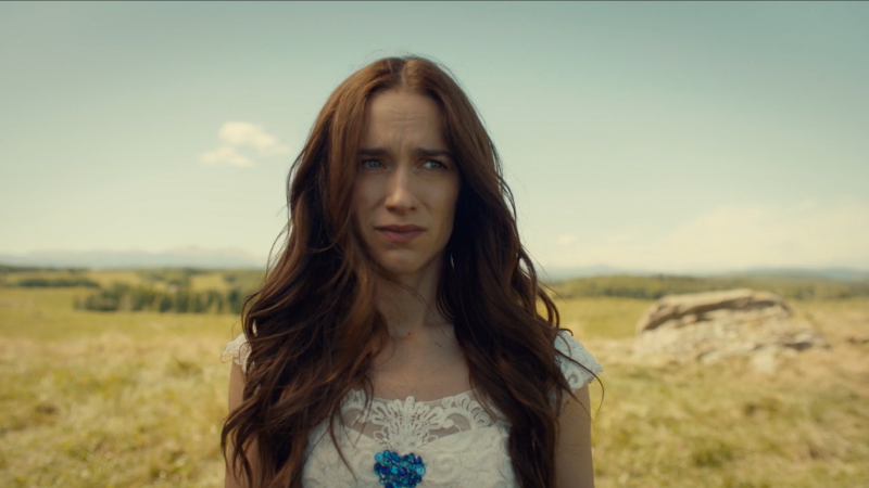 Wynonna Earp series finale recap: Wynonna looks adorably upset about her predicament.