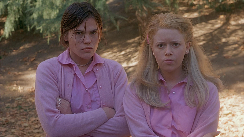 Clea Duvall and Natasha Lyonne scowl in all pink