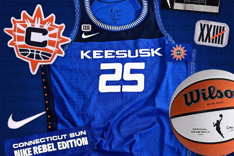 The Connecticut Sun unveil their tribute to the Mohegan Tribe.