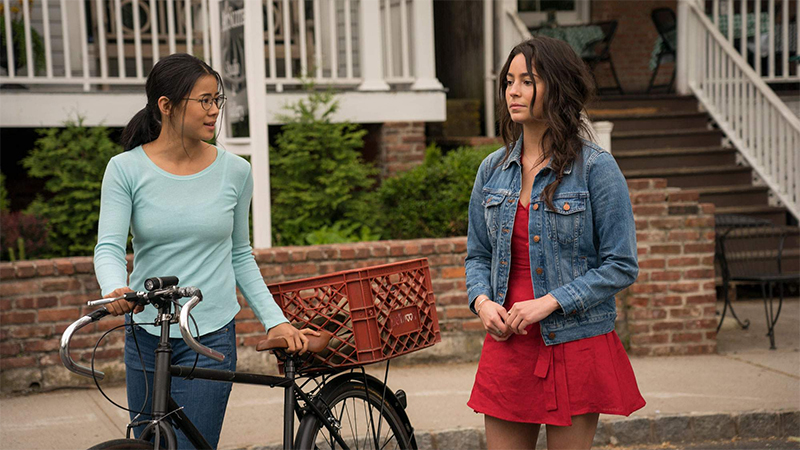 Good First Date Movies for Lesbians: Ellie and Astor face off in The Half of It's final scenes